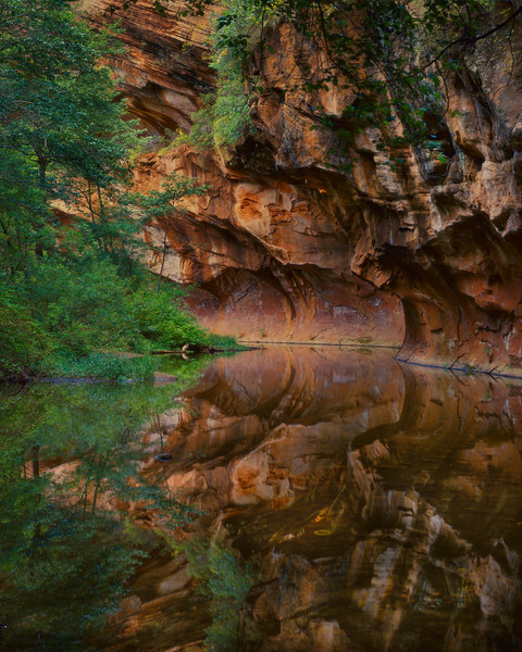 Stream & Canyon Wall