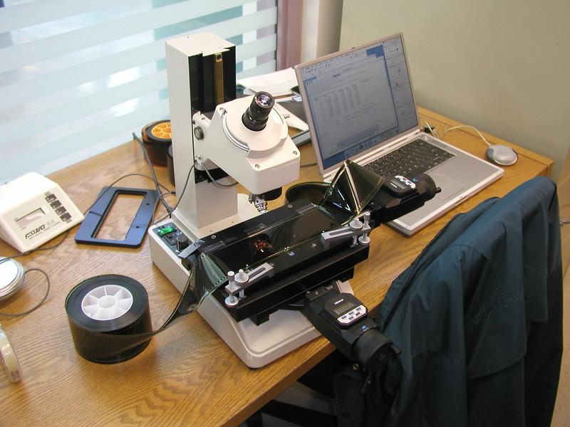 My setup for measuring 1570 film steadinness