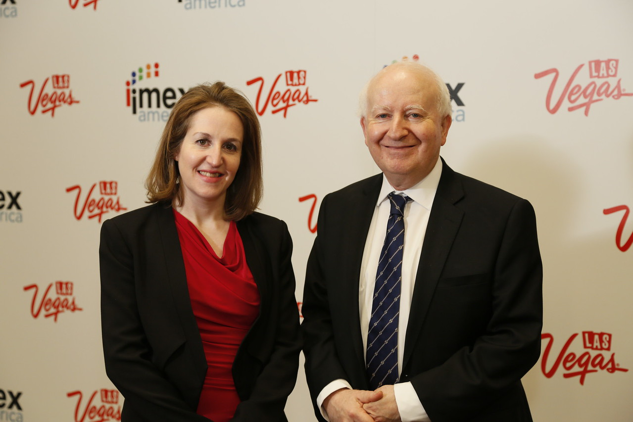 Chairman of IMEX Group Ray Bloom and CEO Carina Bauer