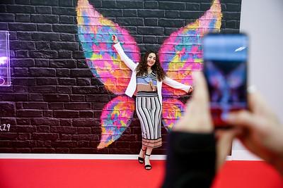 The selfie wall