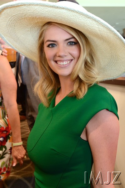 Supermodel Kate Upton at Churchill Downs on Derby Day. May 7, 2016.