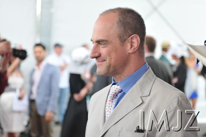 "Christopher Meloni, actor best known for his role as lead detective on the TV series ""Law and Order SVU,"" on the red carpet at Churchill Downs for the Kentucky Derby, May 7, 2011."