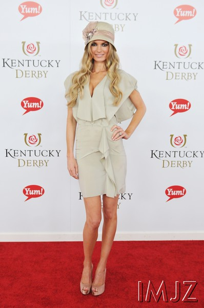 Marissa Miller, Victoria's Secret and Sports Illustrated Swimsuit super model, on the red carpet at Churchill Downs for the Kentucky Derby, May 7, 2011.