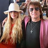 Musicians Orianthi Panagaris and Richie Sambora at Churchill Downs on Derby Day. May 7, 2016.