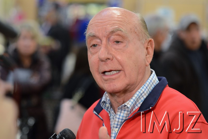 ESPN's Dick Vitale met with members of the media before sitting down to sign books for fans at the Middletown Kroger Friday evening. January 16, 2015.