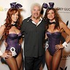 Celebrity Chef Guy Feiri with Playboy Playmates Christine and Allison at the Playboy Derby Party at Prime Lounge,  May 1, 2010.