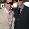 NFL Quarterbacks Aaron Rogers and Tom Brady at Churchill Downs for the Kentucky Derby on May 4, 2012.