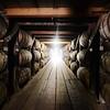 An exclusive view inside Heaven Hill's bourbon barrell rickhouse.