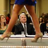 Judges review contestants at the 2013 Miss Kentucky County Fair Pageant at the Galt House. January 12, 2013.