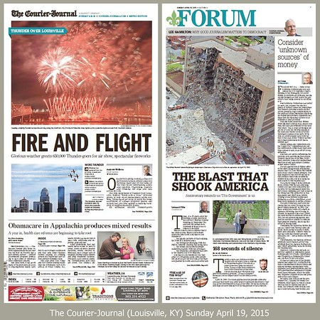 My photo on the cover on the left, my article in the Forum on the right.