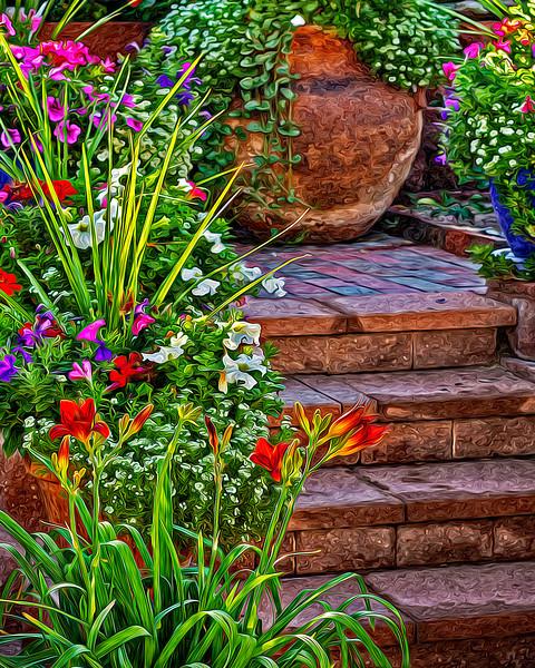 HACIENDA GARDEN STEPS