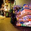 Boxes. La Boqueria.  Barcelona Dawn