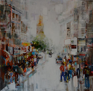 "Life in Motion-Torabi, 51""x51"" painting on canvas JPG"