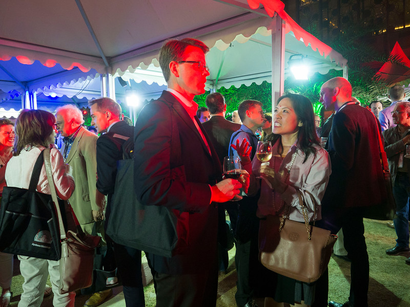 Attendees during the opening reception