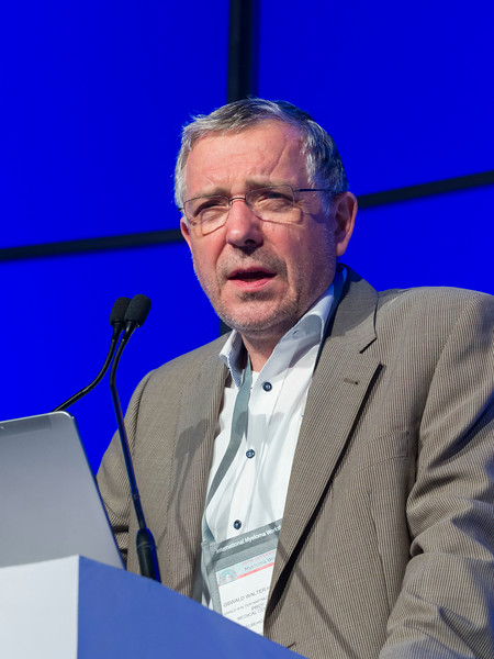 """Hartmut Goldschmidt, MD, speaks during the opening session """"Reaching New Depths: Targeting MRD and Shifting the Treatment Paradigm"""""""