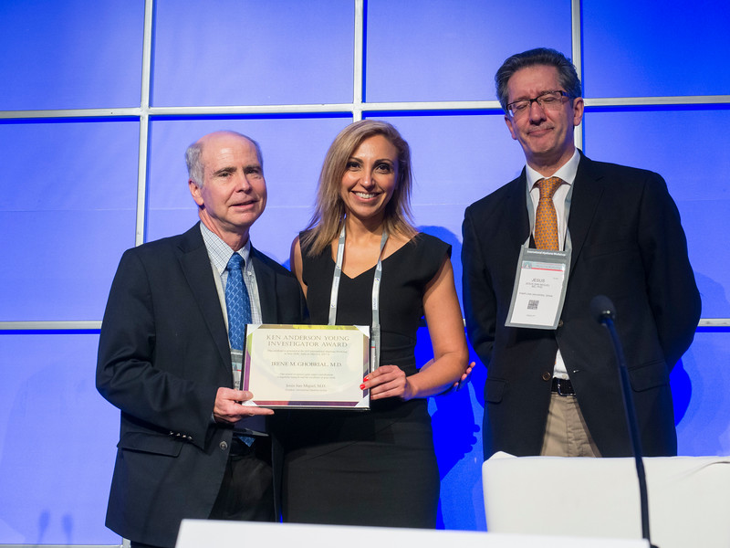 Irene Ghobrial, MD receives Ken Aderson Award during the Ken Anderson Award and Lecture session
