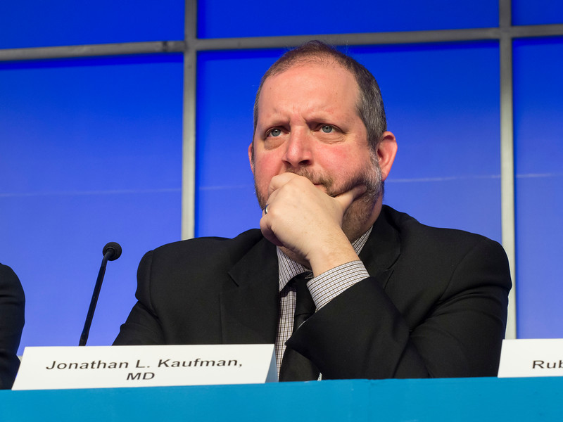 Jonathan L. Kaufman, MD speaks during the Relapsed Multiple Myeloma session