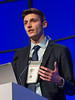 """Roberto Mina, MD speaks during the session """"Simultaneous Oral Session: Initial Therapy and Transplant"""""""