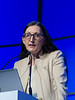 Suzanne Lentzsch, MD speaks during the Precision Medicine: Genomics and Disease Monitoring session