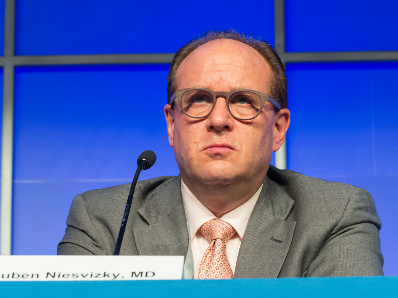 Ruben Niesvizky, MD speaks during the Relapsed Multiple Myeloma session
