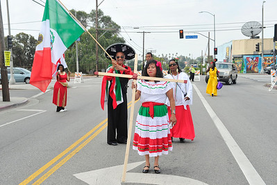 IN HONOR OF CAESAR CHAVEZ ON MAY 14-2016. REVEREND ROSA MEDINA AND THE MINISTERS OF EVANGELISTIC OUTREACH MINISTRIES JOIN FORCES TO BRING A MESSAGE OF GOD TO THE COMMUNITY OF BOYLE HEIGHTS PHOTOS BY VALERIE GOODLOE