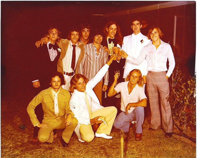 Chris Throop's wedding in about 1976.