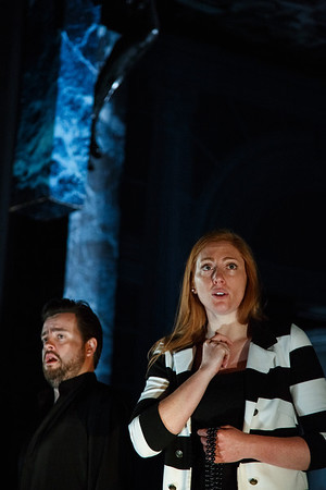 Ben Johnson (Don Ottavio) & Layla Claire (Donna Anna) - Don Giovanni Stage and Studio Rehearsals - Glyndebourne 2014