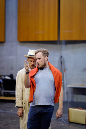 Lloyd Wood (Revival Director) and Edwin Crossley-Mercer (Leporello) - Don Giovanni Stage and Studio Rehearsals - Glyndebourne 2014