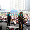 ATLANTIC CITY, NJ - JULY 05:  Three Dog Night Band members performs for fans on the beach at the Atlantic City Hilton on July 5, 2008 in Atlantic City, New Jersey.