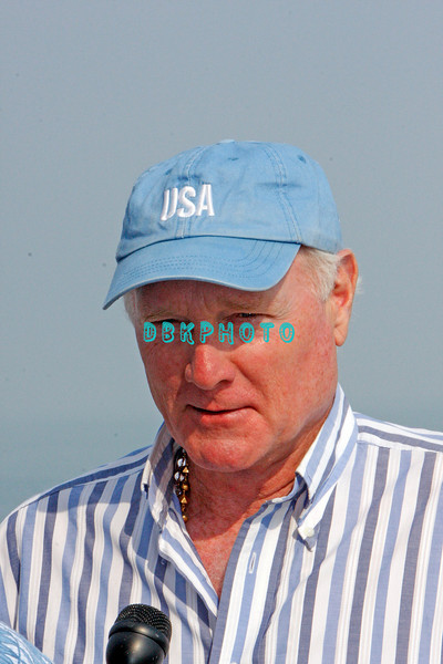 ATLANTIC CITY, NJ - JULY 04:  Mike Love, Beach Boys lead singer does an interview before perfoming for an estimated 50,000 fans in front of the Atlantic City Hilton on July 4, 2008 in Atlantic City, New Jersey.