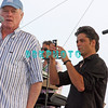 ATLANTIC CITY, NJ - JULY 04:  Lead singer, Mike Love is taped as John Stamos (R)  uses a video camera to video the  Beach Boys as they  perform for an estimated 50,000 fans in front of the Atlantic City Hilton on July 4, 2008 in Atlantic City, New Jersey.