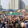 ATLANTIC CITY, NJ - JULY 04:  The estimated 50,000 fans plays with beach balls as they await the start of The Beach Boys Concert in front of the Atlantic City Hilton on July 4, 2008 in Atlantic City, New Jersey.