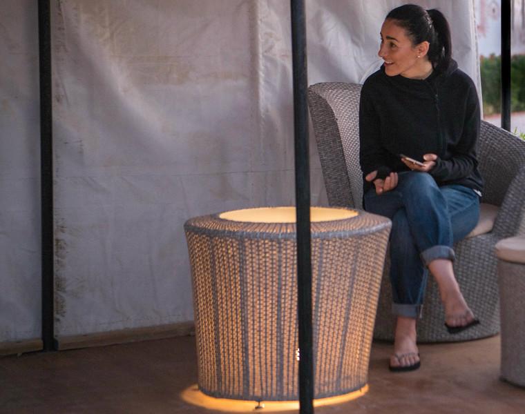 Desert tent relaxation
