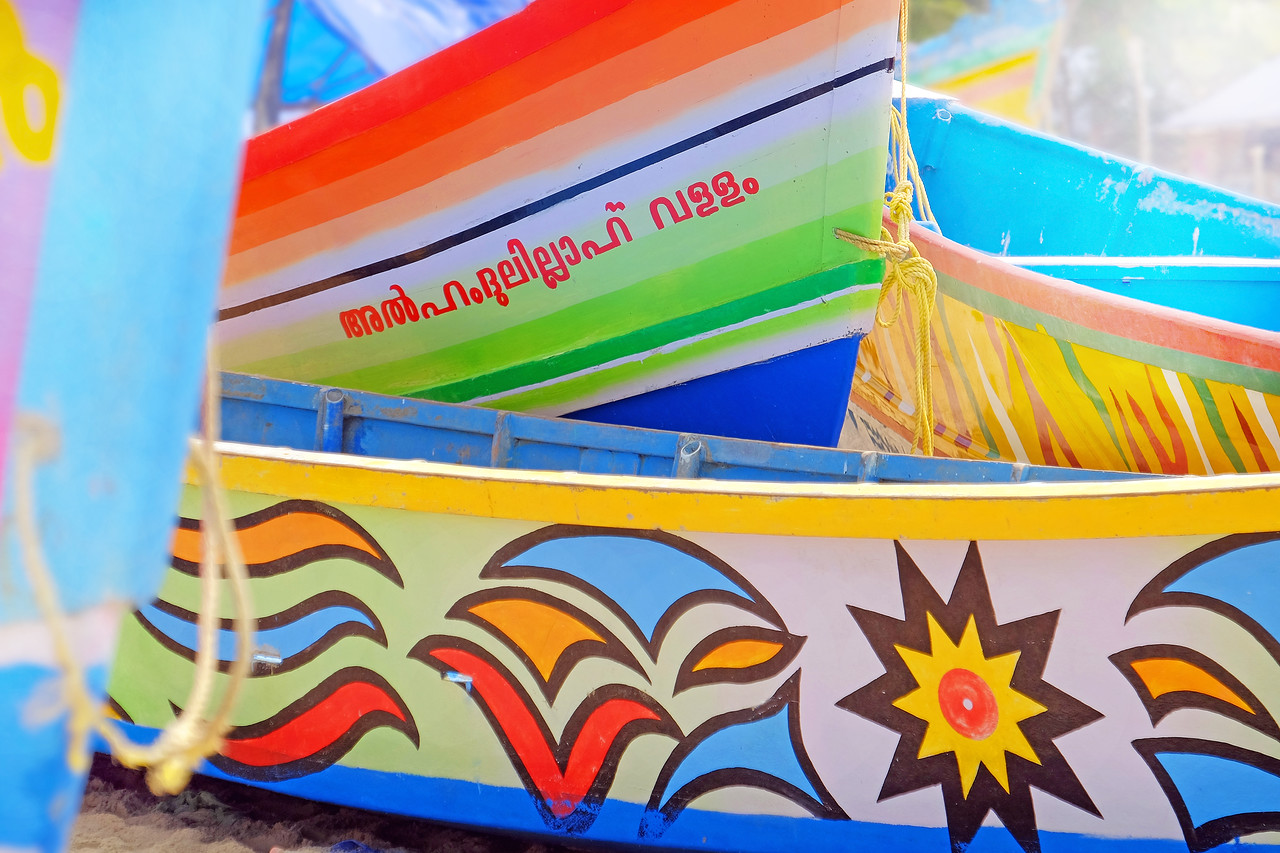 Fishing boats, India
