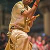 Hindu priest worships