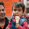 Dad too enjoys Delhi treat