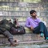 Holi rest at Ganges ghat