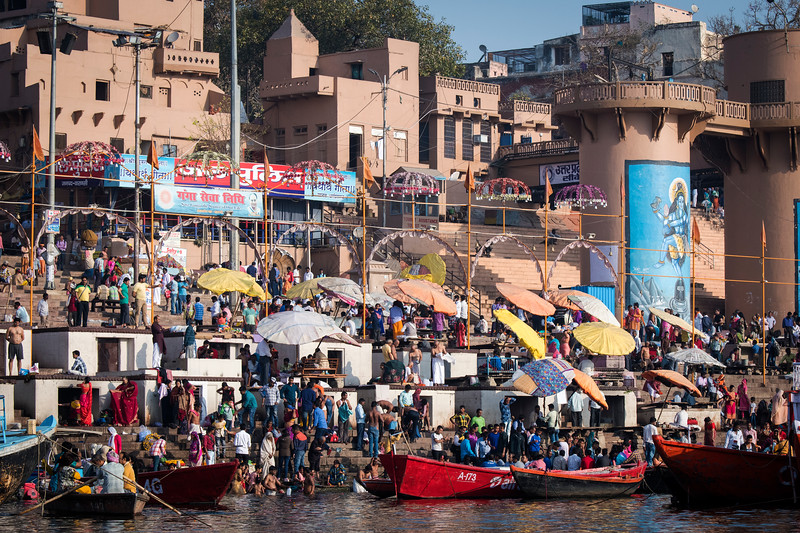 The daily frenzy on the banks of the Ganges in Varanasi