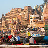 Early morning on the banks of the Ganges at Varanasi