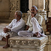 Temple men at rest