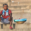 Ghat flower vendor