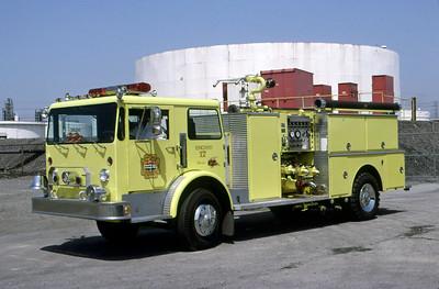 AMOCO REFINERY FD - WHITING IN  ENGINE 517  1979  DUPLEX - NATIONAL FOAM   1500-750F   DON FEIPEL PHOTO