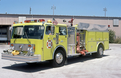 AMOCO REFINERY FD - WHITING IN  ENGINE 513  1983  SPARTAN - E-ONE   1500-0-750F-2000 # PURPLE K   #3301    DON FEIPEL PHOTO