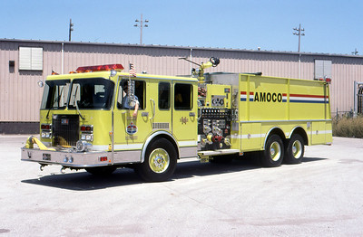 AMOCO REFINERY FD - WHITING IN  ENGINE 514  SPARTAN - NATIONAL FOAM   DON FEIPLE PHOTO