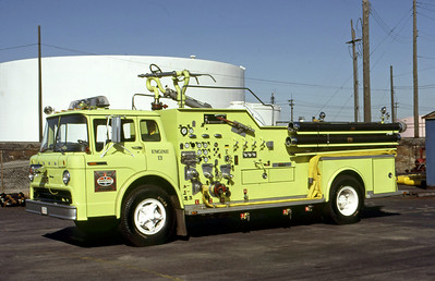 AMOCO REFINERY FD - WHITING IN  ENGINE 513  1968  FORD C - FIRE BOSS   1250-500-2000#s DRY CHEMICAL   WAYNE STUART PHOTO