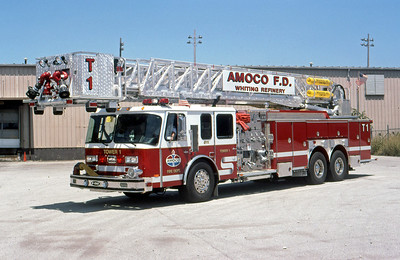 AMOCO REFINERY FD - WHITING IN  TOWER 1  1999  E-ONE HURRICANE   2000-0-750F-95' TL   #19551   DON FEIPEL PHOTO
