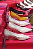 fashion woman heel shoes in a row
