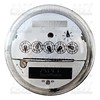 Analog electric meter display round glass cover