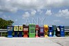 Row of newspaper boxes in Florida