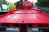 Tow car truck red rear view perspective platform